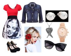 """""""Monroe"""" by sexymofo-1 ❤ liked on Polyvore featuring Tressa, LE3NO, Dolce&Gabbana, Accessorize, maurices, Mikimoto and Michael Kors"""
