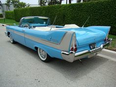 1958 Plymouth Belvedere Convertible - use Christine 1958 Plymouth Belvedere as donor kit Dodge, 1950s Car, Plymouth Cars, Plymouth Belvedere, Chrysler Cars, American Classic Cars, Cabriolet, Convertible, Unique Cars