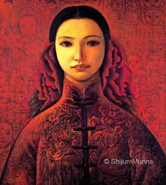 """Shijun Art Published in """"Best of Worldwide Portrait & Figurative Artists Vol. Spring Painting, Spring Art, Chinese New Year Traditions, Figure Painting, Painting Art, Paintings, Oil Painters, We Are The World, Fine Art Gallery"""