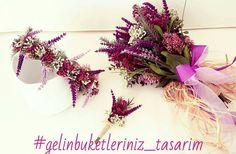 Gelin Buketi & Gelin Tacı & Damat Yaka Çiçeği