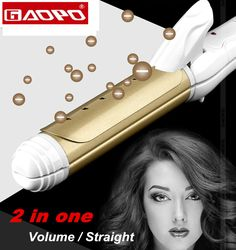 Styling Tool Hair Curling Iron Ceramic Hair Curler Hail Rollers straightening comb hair Tool 110-240V Volume/ straight in one