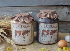 """Купить """"Village House"""" бидоны - бежевый, коричневый, корова, коровка, коровки, деревенский стиль, деревенский"""