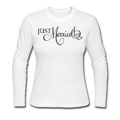 Just Married Black Lettering