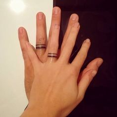 Wedding Ring Tattoos Wedding Ring Tattoos Solitaire is a kind of ring having a individual Him And Her Tattoos, Tattoos For Guys, Tattoos For Women, Finger Tattoo For Women, Ring Finger Tattoos, Tattoo Rings, Ring Tattoo Designs, Wedding Band Tattoo, Wedding Rings
