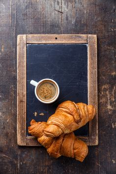 Coffee cup and croissants by liskina-nora on Creative Market