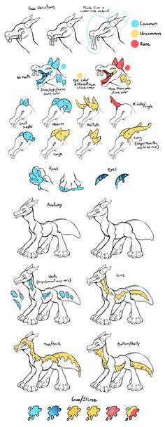 Dragoo Temporary Species Guide by Kawiku.deviantart.com on @DeviantArt