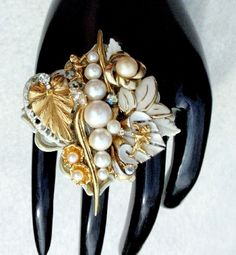 Fun over the top reworked vintage ring from Turtles Treasures in the  Handmade Artists' Shop