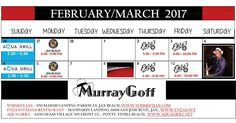 It's March 05 2017 at 04:00PM Check out Murray Goff's schedule of performances this month. #Jacksonville #LiveMusic
