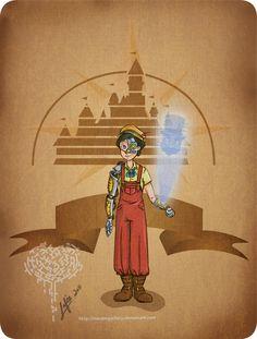STEAMPUNK DISNEY Pinocchio
