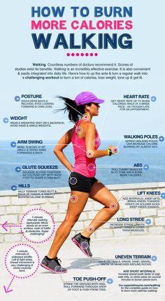 How to burn more calories walking.