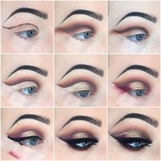 """Glam cut crease with tape for precision using the new @anastasiabeverlyhills """"modern renaissance"""" palette because it's insane! obsessed with this look with and without the glitter liner obviously by @hbain_makeup Share your looks to be featured #GlamExpress or http://ift.tt/1LKibRA ( Upload on site to win cool stuff )  //PRODUCT DEETS// wearing @annytude """"snobby"""" lashes as usual brows are always @anastasiabeverlyhills dipbrow in medium brown and using @sigmabeauty black gel liner with…"""