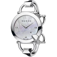 80acaadb12c Gucci Chiodo Women s Mother of Pearl Diamond Watch