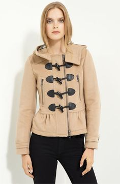 Burberry - Brit Toggle Front Wool Jacket