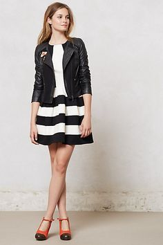 Mixed Moto Jacket #anthropologie #anthrofave