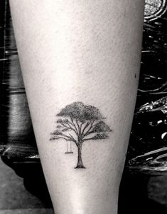 Tree swing | Tattoo artist: Dr. Woo in Los Angeles