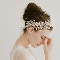 Golden blossom and crystal burst headband