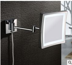 Bathroom Chrome Wall Mounted 8 inch Brass one face 3X Square Bath Led Mirror Folding Makeup Mirror Cosmetic Mirror Lady Gift - http://furniturefromchina.net/?product=bathroom-chrome-wall-mounted-8-inch-brass-one-face-3x-square-bath-led-mirror-folding-makeup-mirror-cosmetic-mirror-lady-gift