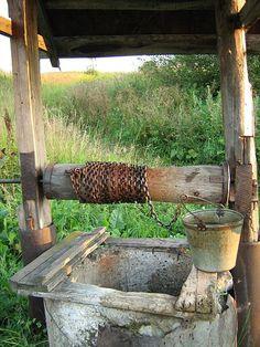 An old water well near Ankudinovka rail station, SE of Nizhny Novgorod