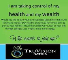 For the next 3 days, to become a TruVision associate it's just $10!!! BUT I want you on my team so I will pay for your $10 fee!!!!! That's right, no enrollment fee!!!! ONLY OVER THE NEXT 3 DAYS!!!   IF you have wanted to start a direct sales business this ONE is it!!! I've done a few and this is by far the best one that I've made the most money doing!!!!   Message me today!!!   www.lizaknopp.truvisionhealth.com