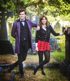 Starbit Cosplay as Clara Oswald   Matt Elliott as 11th Doctor   Picture by - Batbunny Cosplay