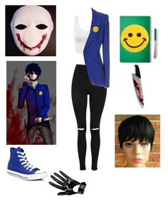 """""""Bloody Painter"""" by electraxlaxus ❤ liked on Polyvore featuring Topshop, Alexander McQueen, Hollywood Mirror, The Idle Man and Converse"""