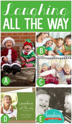 Laughing all the Way- Family Christmas Card Idea