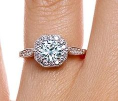 Victorian Halo Diamond Ring
