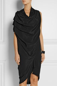 Shop on-sale Rill draped satin-crepe dress. Browse other discount designer Knee Length Dress & more luxury fashion pieces at THE OUTNET Dresses For Sale, Nice Dresses, Dresses For Work, Fashion Brands, Luxury Fashion, Womens Fashion, Vivienne Westwood Anglomania, Vintage Couture, Crepe Dress