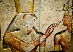 Horus - at the Louvre Museum, Paris.