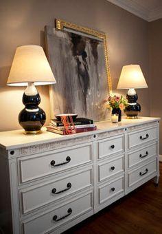 long white mid century ish dresser