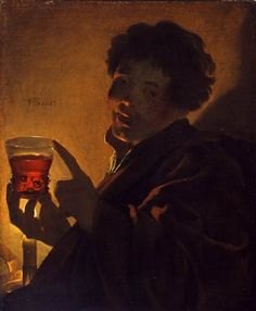 Boy with a Wineglass, Hendrick Ter Brugghen, 1623, Gift of David Koetser in honor of W. R. Valentiner