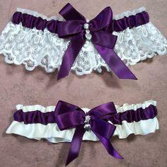 Bridal Garter Purple Lace Garter Set Wedding Garter Lavender Garter Customize Garter Vintage Garter Stretch Lace Garter