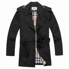 Giacca a vento con collo a camicia Burberry uomo cintura nera.jpg (720×720)