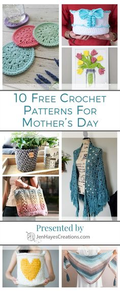 Mother's Day 2018 Crochet Pattern Roundup | Presented by Jen Hayes Creations