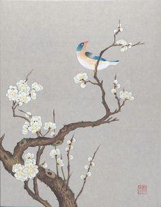 신사임당의 화훼도와 화조도 모사작 : 네이버 블로그 Korean Painting, Chinese Painting, Art And Illustration, Botanical Illustration, Korean Art, Asian Art, Japanese Art Styles, Oriental, Japan Painting