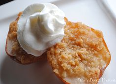 Individual Pear Crisps with Whipped Topping {MamaBuzz}
