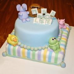 Baby Animals Cake Instructions and pictures for adorable baby duck and frog cakes