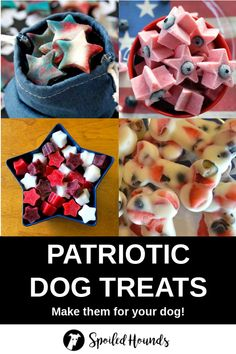 Show off your American pride with these awesome patriotic dog products. Plus find healthy homemade dog treat recipes and see fun dog photos. Pumpkin Dog Treats, Homemade Dog Treats, Pet Treats, Healthy Dog Treats, Dog Treat Recipes, Dog Food Recipes, Birthday Dog Treats, Frozen Dog Treats, Pet Tips