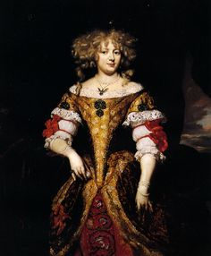 Maes Nicolaes; Countess Monzi .1660. The cut of this dress is very clear. The robe de cour held fast to this style while fashionable dress went through any number of radical changes.