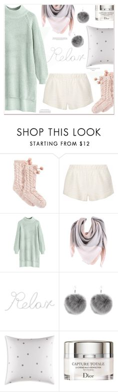 """lovely loungewear"" by mycherryblossom ❤ liked on Polyvore featuring UGG, Eberjey, PBteen, Kate Spade, Christian Dior and LovelyLoungewear"
