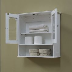 Natural Beauty 23.63 x 23.63-inch Wall Mounted Cabinet by RunFine Group