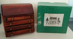 Tynietoy Winthrop Wooden Desk Dollhouse Miniature Furniture Vintage with Box   eBay