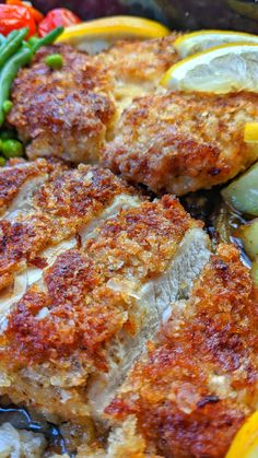 Chicken Schnitzel, Breast Recipe, Meals For Two, Food And Drink, Low Carb, Tasty, Healthy Recipes, Dinner, Cooking