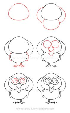 Whether it's Thanksgiving or not, it's always fun to learn how to draw a turkey!