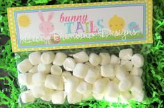 PRINTABLE Personalized Easter Bunny Tails Bag by ciaobambino, $8.00