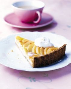 Angela Hartnett shares her amazing pear tart recipe, with frangipane. Serve it up to your friends and they'll think you deserve a star, too. Recipes Using Fruit, Pear Recipes, Gourmet Recipes, Baking Recipes, Sweet Recipes, Snack Recipes, Frangipane Recipes, Frangipane Tart, Sweet Pie
