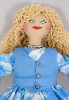 Blonde Doll With Flowers In Hair  Art Doll  Toy Doll