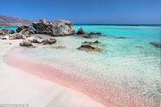 Экзотика: пляжи с розовым песком — Все о туризме и отдыхе