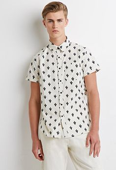 medium Cactus Print Shirt | 21 MEN - 2000095696