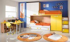 Bright and Colorful Kids Bedroom Tone with Bunk Beds Tips on Purchasing Modern Kids Bunk Bed Part 2